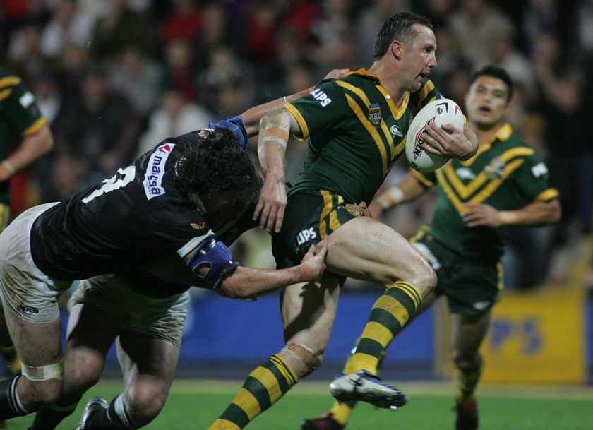 Centre and five-eighth Shaun Timmins had a perfect record with the Kangaroos.