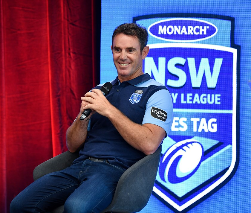 Blues coach Brad Fittler at the NSWRL launch.