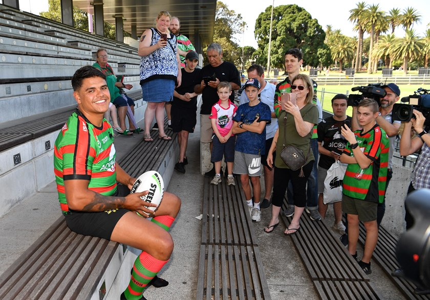 Rabbitohs signing Latrell Mitchell in the pre-season.