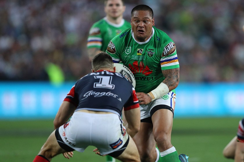 Former Raiders centre Joey Leilua has joined his brother at the Tigers.