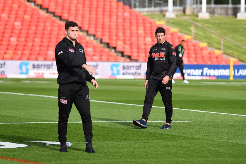 Nathan Cleary and Trent Barrett.