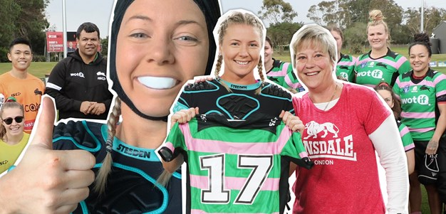 You can't be what you can't see: Katie reports for Rabbitohs duty