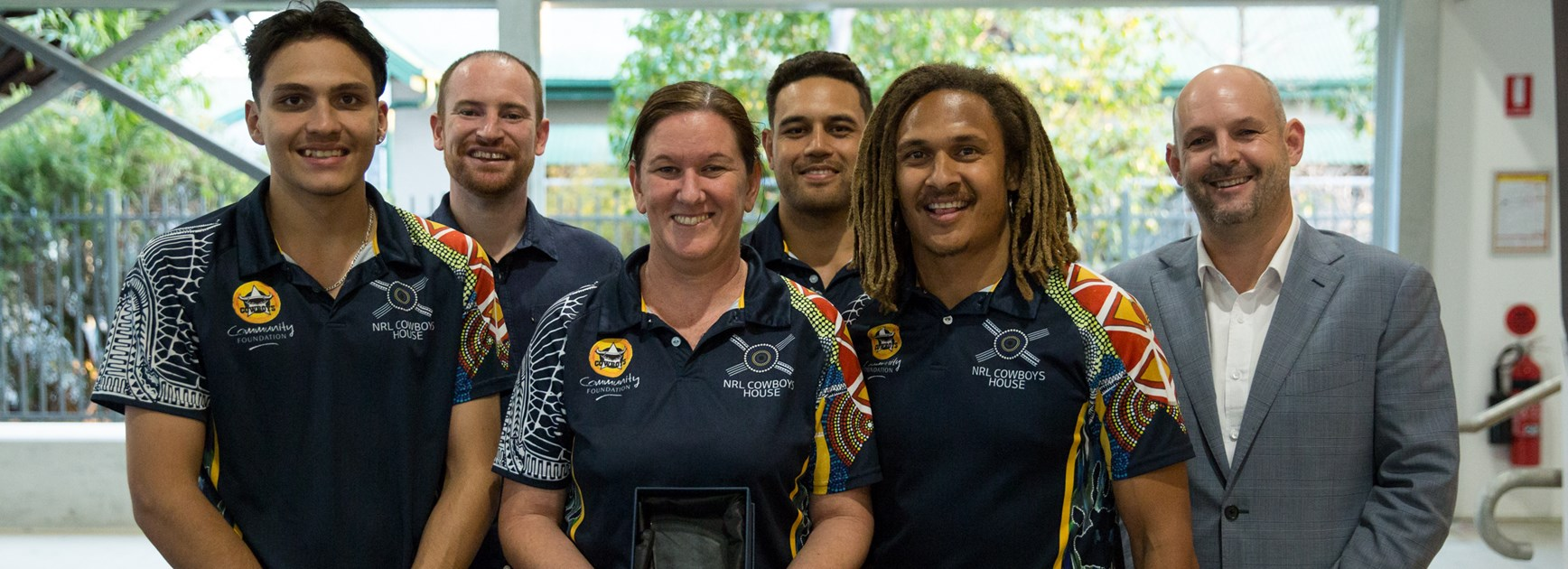 NRL head of government relations Jaymes Boland-Rudder (second left).
