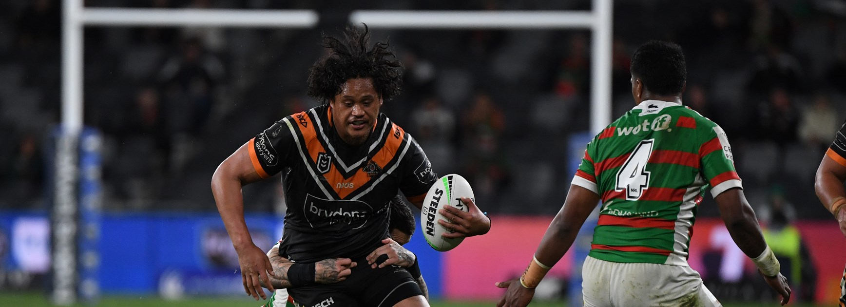 Wests Tigers back-rower Luciano Leilua.