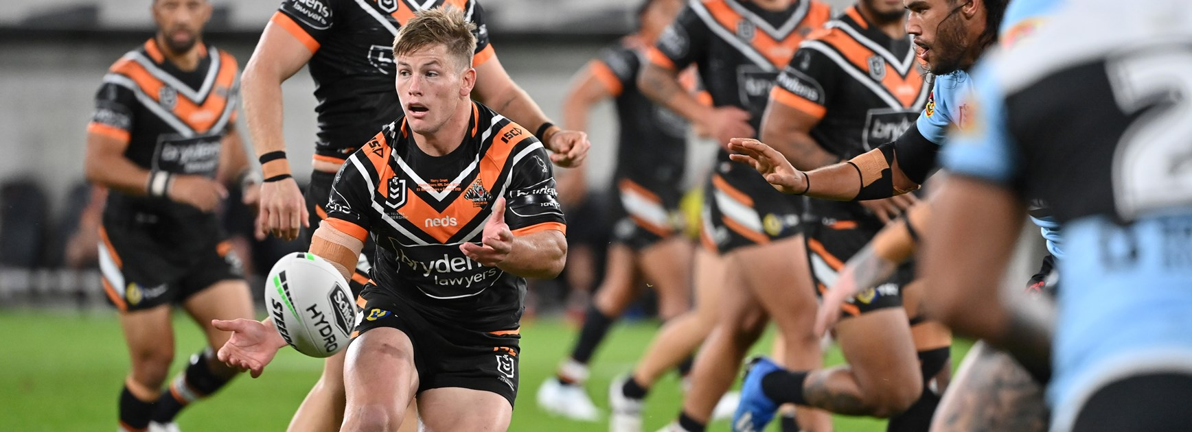Wests Tigers hooker Harry Grant.