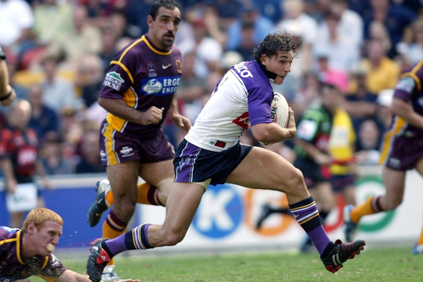 Billy Slater scored 14 tries in 22 games in 2004 but injury cost him a Tri-Nations trip.