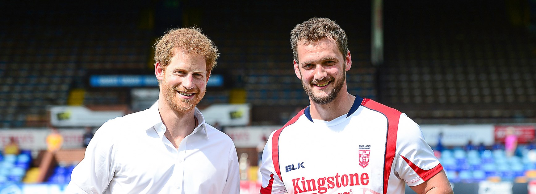 Prince Harry and Sean O'Loughlin.
