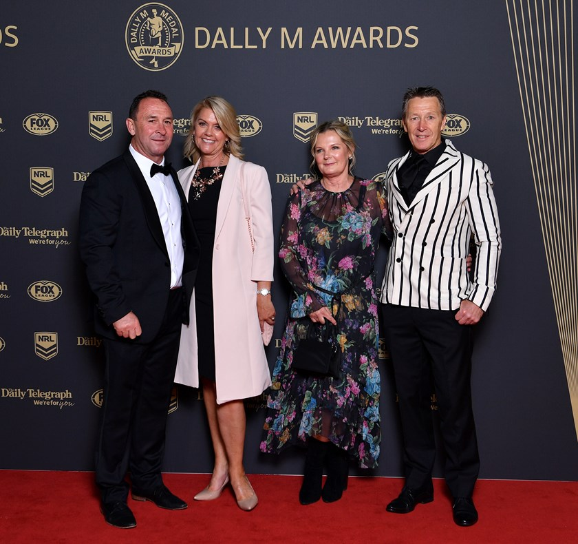 Craig and Wendy Bellamy with Ricky and Kaylie Stuart at last year's Dally M awards.