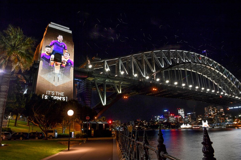 The Harbour Bridge will feature images of the 2020 season every night until Sunday.