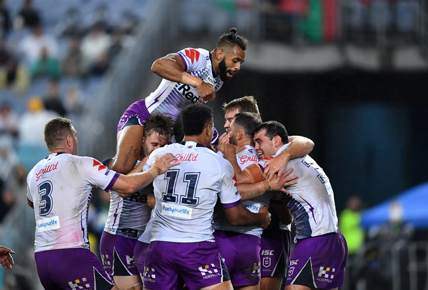 Cameron Smith scores for the Storm.