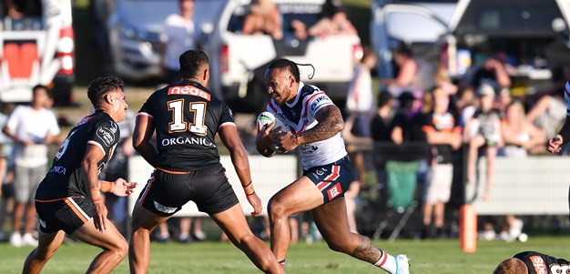 Volkman steers Roosters to trial win over Wests Tigers