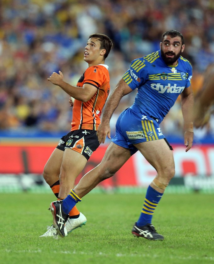Luke Brooks was the hero for the Tigers against Parra in 2014.