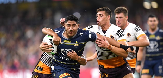 Holmes, Taumalolo stand tall as Cowboys pip Broncos in thriller