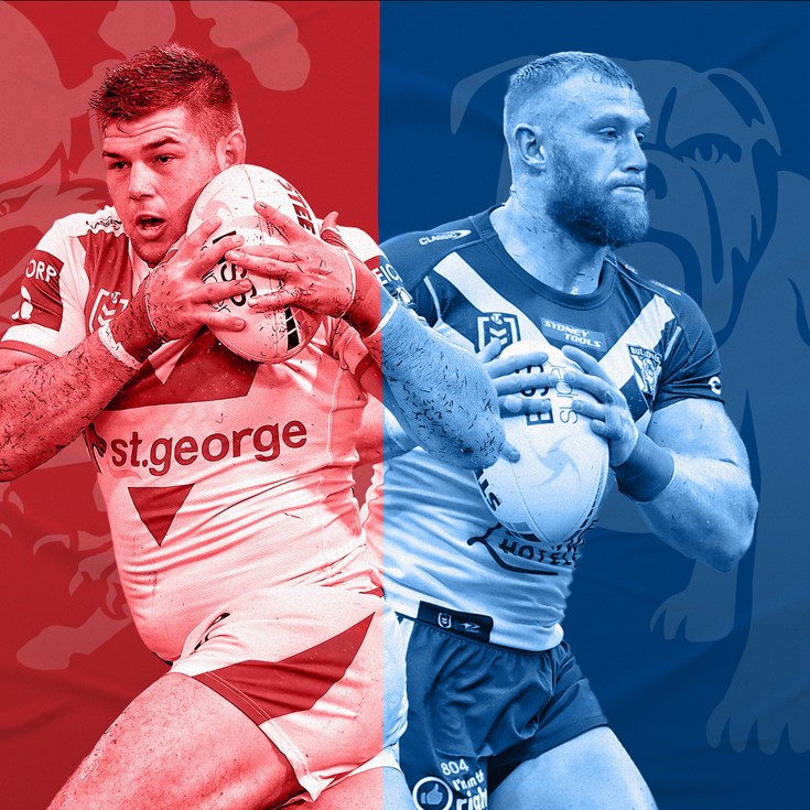 Dragons v Bulldogs: Fuimaono in centres; DWZ at fullback