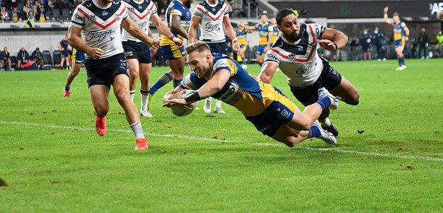 Hutchison hospitalised as brave Roosters push Parra to the limit