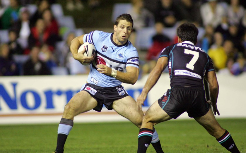 Josh Hannay finished his NRL career at Cronulla in 2007 after a lengthy stint at North Queensland.