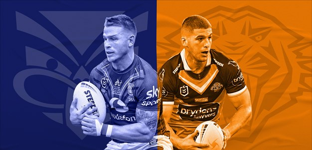 Warriors v Wests Tigers: Curran, Berry sidelined; Madge names same 17