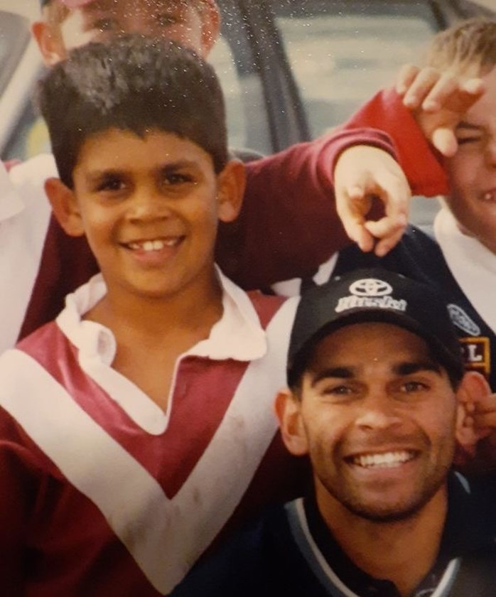 A young Tyrone Peachey with uncle David in 1999.