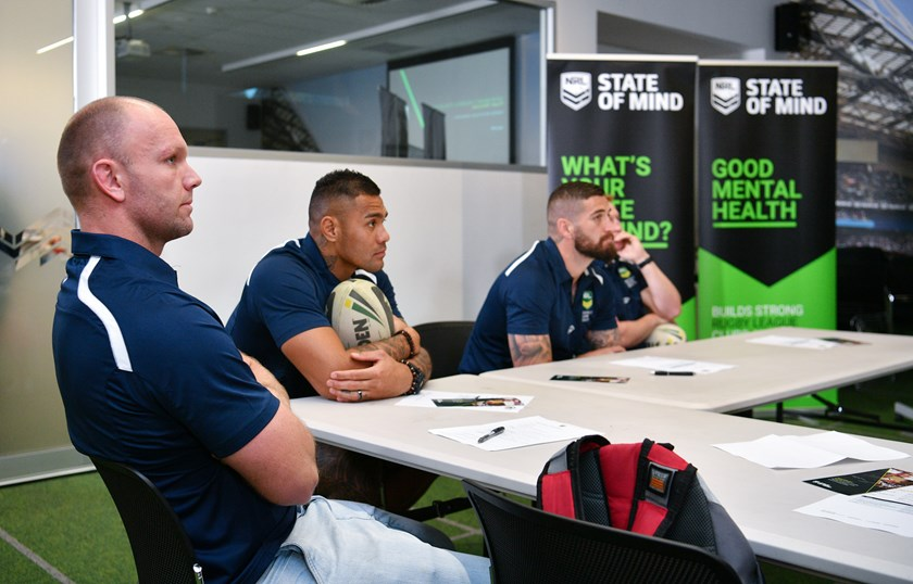 Eels David Gower took part in the NRL's advocate induction at Rugby League Central.