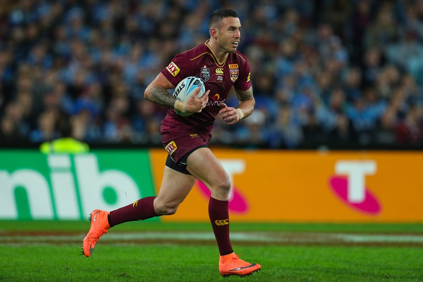Darius Boyd in action for the Maroons.